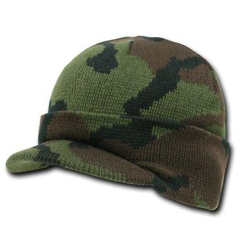 DCCKUG3 Rapid Dominance Camouflage Jeep Caps/Visor Beanies (Woodland Camo, One Size)