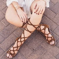 Ale Gladiator Sandals - Tan