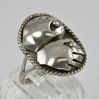 Risque Men's Native American Sterling Silver Ring by C. Manning
