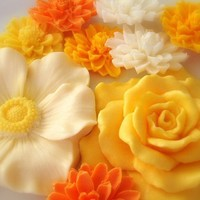 Citrus Soap Flowers by SatinandBirch on Etsy