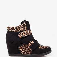 Leopard Print Wedge Sneakers | FOREVER 21 - 2031561762