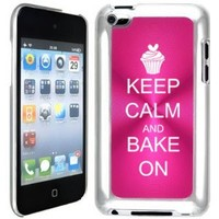 Apple iPod Touch 4 4G 4th Generation Hot Pink B690 hard back case cover Keep Calm and Bake On Cupcake