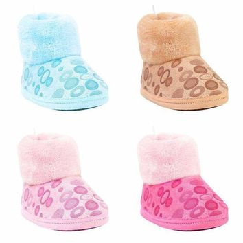 Infants Toddler Kids Baby Crib Shoes Winter Warm Snow Boots Soft Sole Booties US