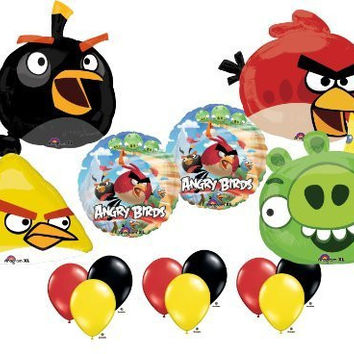 Angry Birds Ultimate Balloon Birthday Party Supply Kit 4 Bird Pig Set Mylar *15*
