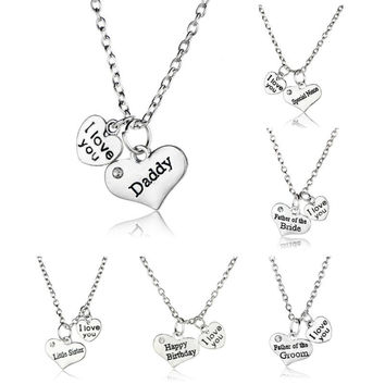 Best Gifts for Family: Mother Father NANA Jewelry Pendant Necklace Mother's Day & Father's Day Necklace Souvenirs