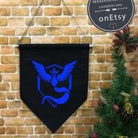 Mystic Flag, Mystic baner flag hanging wall banner flag, Team Mystic, Mystic team, wall hanging decoration, Pokémon Décor, funny gifts