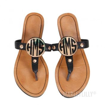 Monogrammed Sandals | Marleylilly