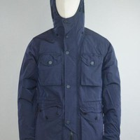 Marshall Artist AW17 Liquid Nylon Snow Parka in Navy