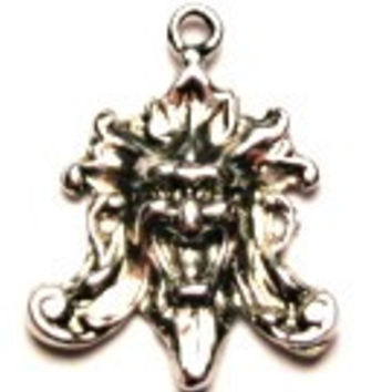 Pagan God Or Demon Genuine American Pewter Charm