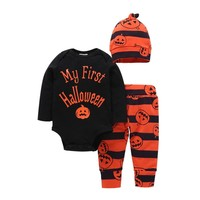 Newborn Infant baby Girl Boy Pumpkin Romper Halloween clothes