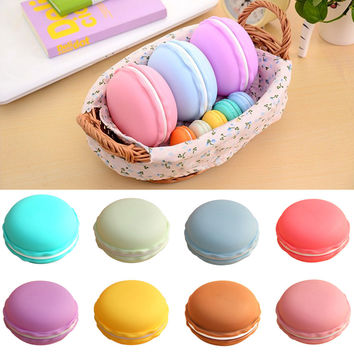1pc Earphone SD Card Cute Macarons Bag Big Storage Box Case Carrying Pouch Vovotrade