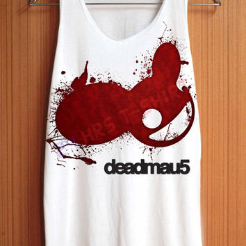 Deadmau5 Shirt Head House Music Shirts Top Tank Top Tee Tunic Singlet Women - Size S M L