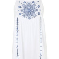 Embroidered Panel Sundress - Multi