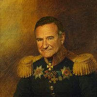 Robin Williams - replaceface Art Print by Replaceface
