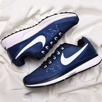 NIKE ZOOM PEGASUS Trending Retro Fashion Casual Sports Shoes Navy blue G-PSXY
