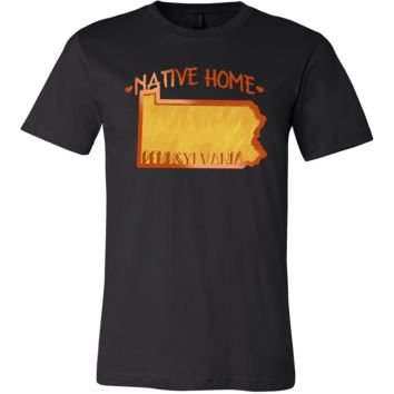 Love Pennsylvania State Native Home Map Outline Souvenir Gift T-shirt