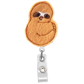 Baby Sloth- Animal Name Badge Holder - Nurses Badge Holder-Cute Badge Reels-Unique  ID Badge Holder - Felt Badge