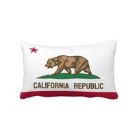 Throw Pillow Lumbar - Flag of California Republic from Zazzle.com