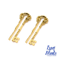 Skeleton Key Design Ear Weights 1 Pair