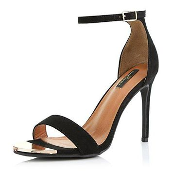 DailyShoes Womens Stilettos Sandal Open Toe Ankle Buckle Strap Platform Evening Party Dress Casual Shoes