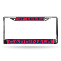 St. Louis Cardinals MLB Chrome Laser Cut License Plate Frame