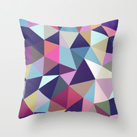 Dark Garden Tris Throw Pillow by Beth Thompson