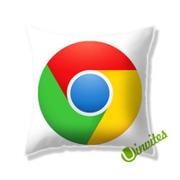 Chrome Logo Square Pillow Cover