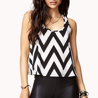 Flared Chevron Cropped Tank