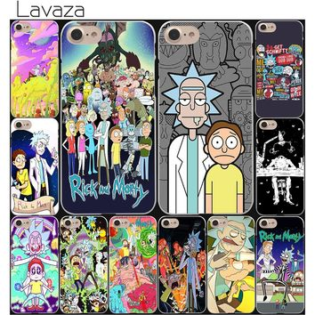 Lavaza Rick and Morty Season Hard White Coque Shell Phone Case for Apple iPhone 8 7 6 6S Plus 5 5S SE 5C 4S X 10 Cove