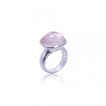 Om Namah Shivaya Ring • Rose Quartz • Silver