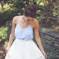 Kiss And Run Skirt in White