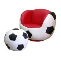 Amazon.com: ORE International Soccer Swivel Chair & Ottoman: Home & Kitchen