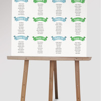 Custom Wedding Seating Chart | DIY Wedding | Find Your Seat  | Printable Seating Chart | Wedding Guest List