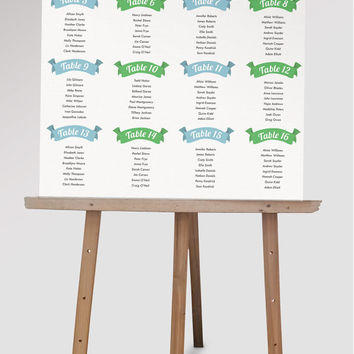 Custom Wedding Seating Chart | DIY from themidwestdarling on Etsy