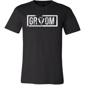 Funny Men's Bachelor Party Tuxedo Groom Printed T-Shirt