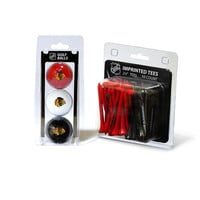 Chicago Blackhawks NHL 3 Ball Pack and 50 Tee Pack