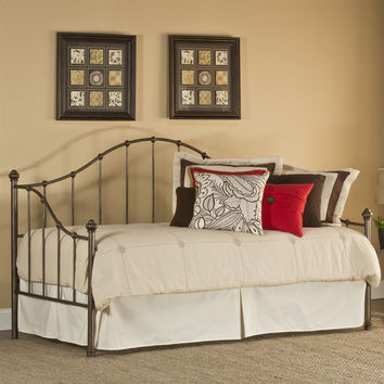 Twin Metal Arch-Back Day Bed with in Weathered Steel Finish