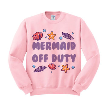 Mermaid Off Duty Seashell Crewneck Sweatshirt