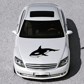 ANIMAL WHALE CUTE FISH DESIGN HOOD CAR VINYL STICKER DECALS ART MURAL SV1582
