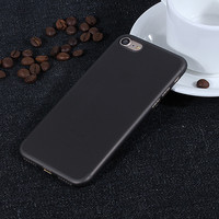 Black 0.3 mm Ultra Thin Slim Plastic Soft Transparent Clear Back Cover Phone Case for Apple iPhone 7 7 Plus