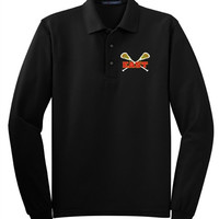 Williamsville East Womens Lacrosse Mens Port Authority® Long Sleeve Silk Touch™ Polo