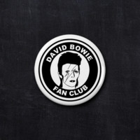David Bowie fan club button