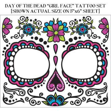 Day Of Dead Face Tattoo