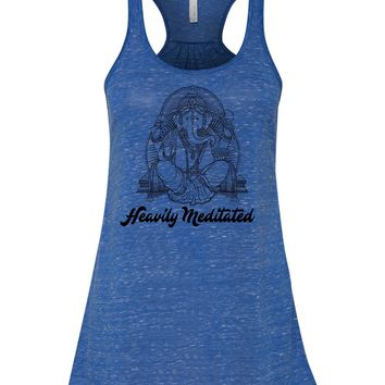 Heavily Meditated Ganesha Flowy soft Yoga Tank