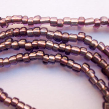 Light Purple Murano glass beads from Venice, Italy bead strand supply