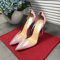 Christian Louboutin Cl Degrastrass Pumps Pink - Best Online Sale