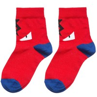 Fendi Boys Red 'Monster' Socks