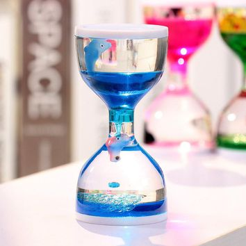 Moving Oil Droplets Sand Hourglass Crafts Sandglass Timer Clock Office Bedroom Home Decor