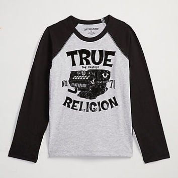 MOTO LONG SLEEVE TODDLER/LITTLE KIDS RAGLAN
