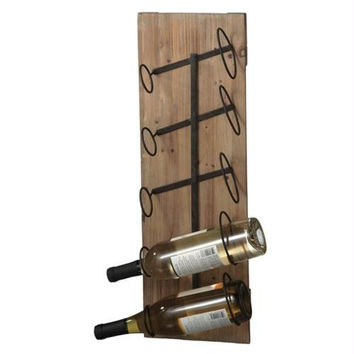 Wine Bottle Rack - Rustic Style